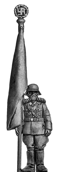 Nuremberg Stormtrooper in gasmask with hated flag (28mm)