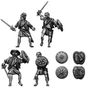 Sword and buckler man no armour (28mm)