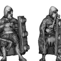 Sumerian front rank axeman with cloak (28mm)