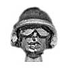 SWAT Head Helmet and goggles (28mm)