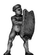 Tupi with bowl haircut and shield (28mm)