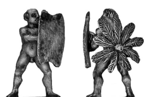 Tupi with tonsure and shield (28mm)