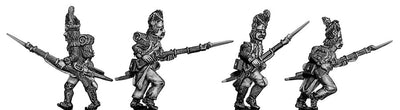 Grenadier, bearskin, ragged campaign uniform, advancing (28mm)