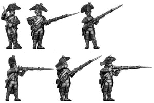 Fusilier, bicorne, regulation uniform, firing and loading (28mm)