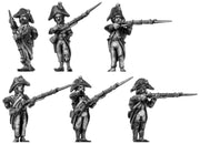 Fusilier, bicorne, ragged campaign uniform, firing and loading (28mm)