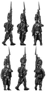 Fusilier, casque, regulation uniform, march-attack (28mm)