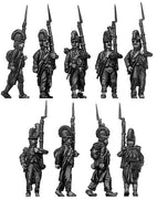 Fusilier, casque, ragged campaign uniform, march-attack (28mm)