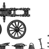 French 4-pdr gun with equipment (28mm)