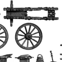 French 8-pdr gun with equipment (28mm)