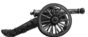 French 12-pdr gun with equipment (28mm)