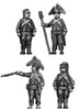 Foot artilleryman, bicorne, ragged uniform, firing (28mm)