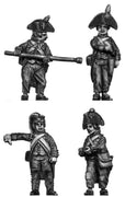 Foot artilleryman, bicorne, ragged uniform, loading (28mm)