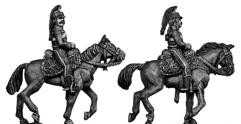 Mounted Horse Artilleryman hussar jacket casque (infantry style) (28mm)