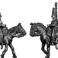 Mounted Horse Artilleryman chasseur coat Mirliton style shako (28mm)