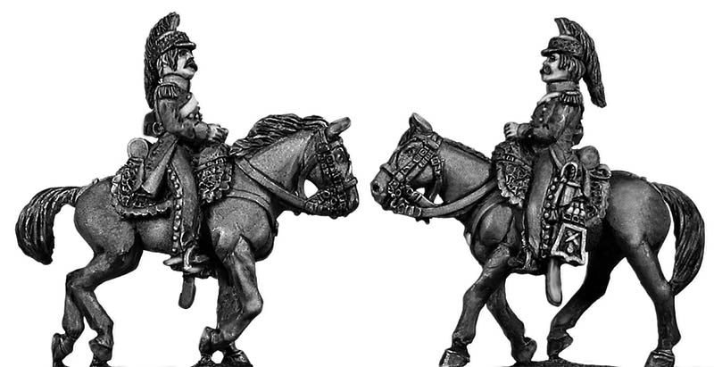 Mounted Horse Artilleryman chasseur coat casque (infantry style) (28mm)