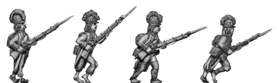 Fusilier, casque, ragged campaign uniform, advancing (28mm)