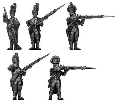 Fusilier, casque, regulation uniform, firing and loading (28mm)