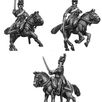 Chasseur à Cheval Officer tailed surtout coat in helmet (28mm)