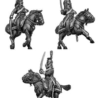 Chasseur à Cheval Officer tailed surtout coat in mirliton (28mm)