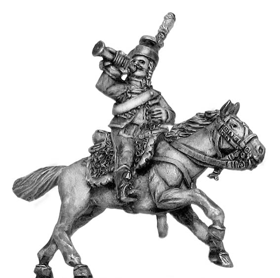 Chasseur à Cheval Trumpeter short caracot jacket in mirliton (28mm)