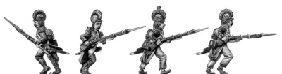 Grenadier, casque, ragged campaign uniform, advancing (28mm)
