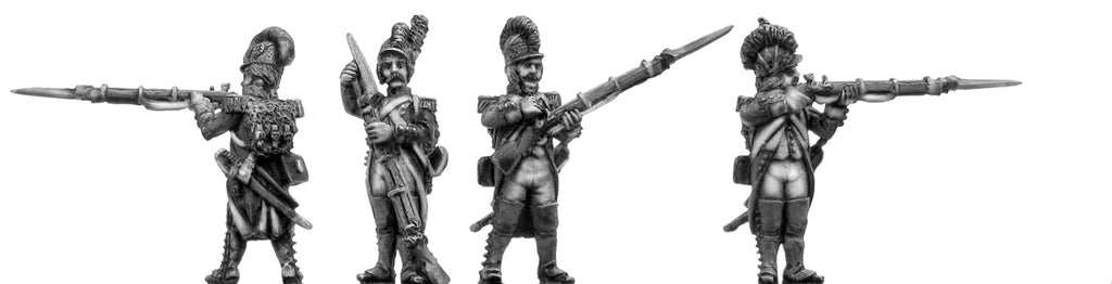 Grenadier, casque, regulation uniform, firing & loading (28mm)