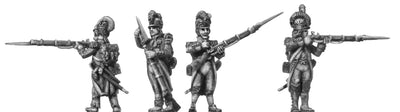 Grenadier, casque, ragged campaign uniform, firing & loading (28mm)