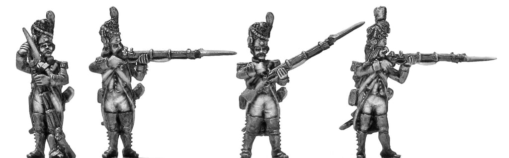Grenadier, bearskin, regulation uniform, firing & loading (28mm)