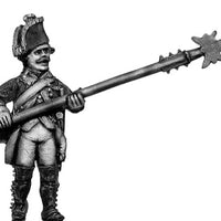 Russian Musketeer NCO, coat with lapels and collar, halberd, advancing (28mm)