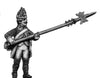 Russian Fusilier NCO, coat with lapels and collar, halberd, advancing (28mm)