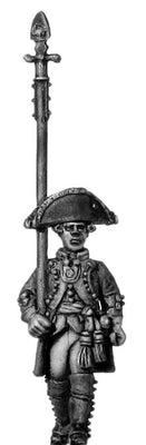 Russian officer, coat with lapels and collar, spontoon, marching (28mm)