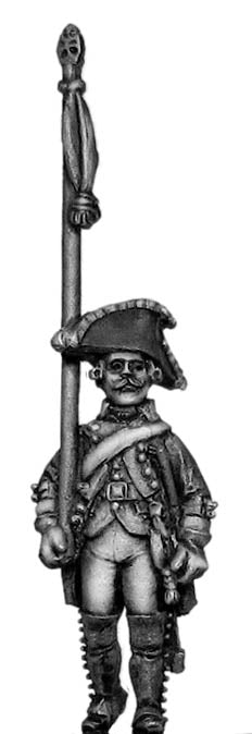 Russian Musketeer standard bearer, coat with lapels and collar (28mm)