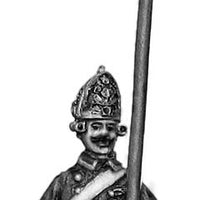 Russian Fusilier NCO, coat - no lapels, halberd, marching (28mm)