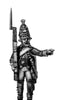 Russian Grenadier NCO, coat - no lapels, musket, marching (28mm)