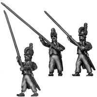 Standard bearer, casque, ragged campaign uniform, marching (28mm)