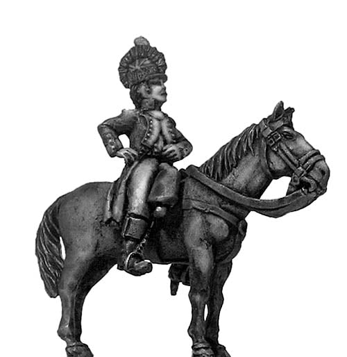 Officer, casque, mounted (28mm)