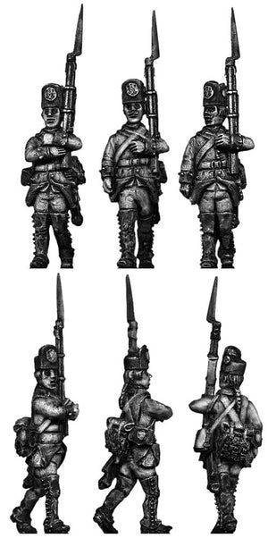 Austrian Fusilier, march-attack, casquet (28mm)