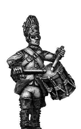 Austrian Grenadier drummer, marching, bearskin  (28mm)