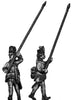 Hungarian Fusilier standard bearer, marching, casquet  (28mm)