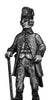 Hungarian Fusilier officer, marching, casquet  (28mm)