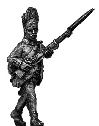 Hungarian Grenadier NCO, advancing, bearskin (28mm)