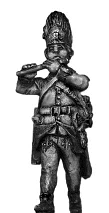 Hungarian Grenadier fifer, marching, bearskin (28mm)