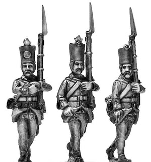 Grenzer in klobuk shako march-attack (28mm)