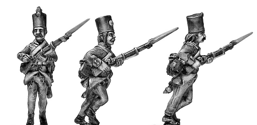 Grenzer in klobuk shako advancing (28mm)