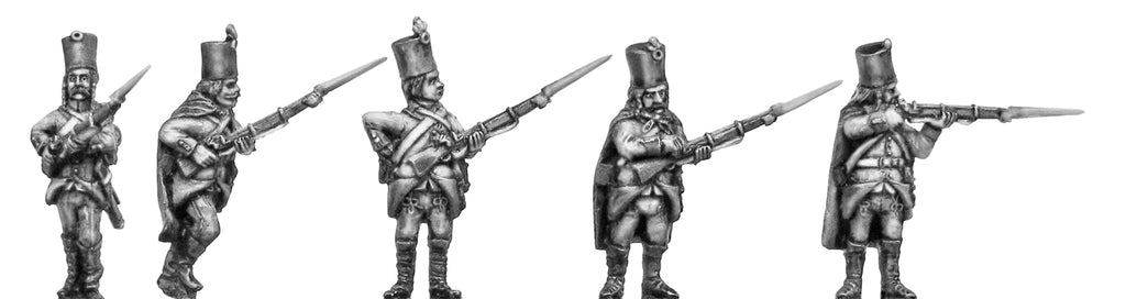Grenzer in klobuk shako and traditional dress skirmishing (28mm)