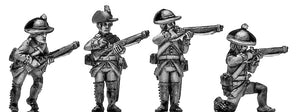 Jager in Tyrolean round hat with 1779 rifle skirmishing (28mm)