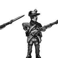 Jager in Tyrolean hat with musket skirmishing (28mm)