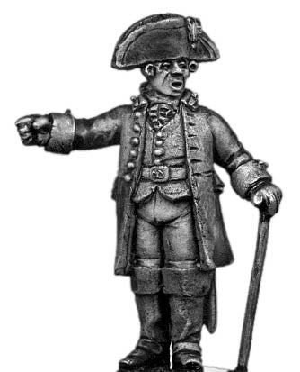 Artillery Officer, in flat fronted tricorne (28mm)