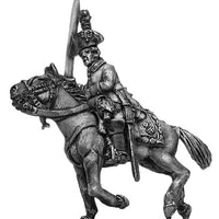 Chevauxleger Officer, charging, in tricorne hat (28mm)