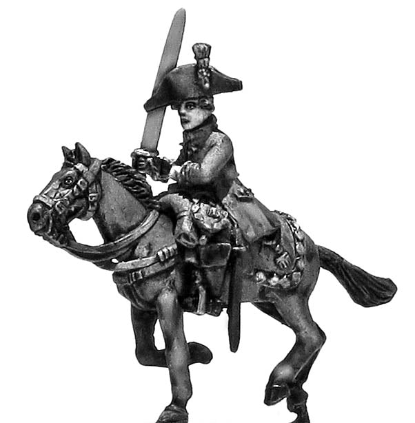 Dragoon officer charging (28mm)